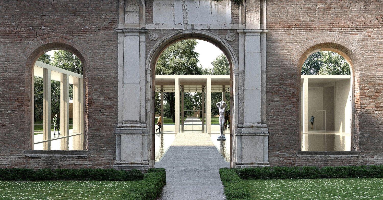 Concorso per l'ampliamento di Palazzo dei Diamanti, Ferrara. Il progetto vincitore di 3TI PROGETTI, Labics, arch. Elisabetta Fabbri e Vitruvio s.r.l. Immagine via www.cronacacomune.it