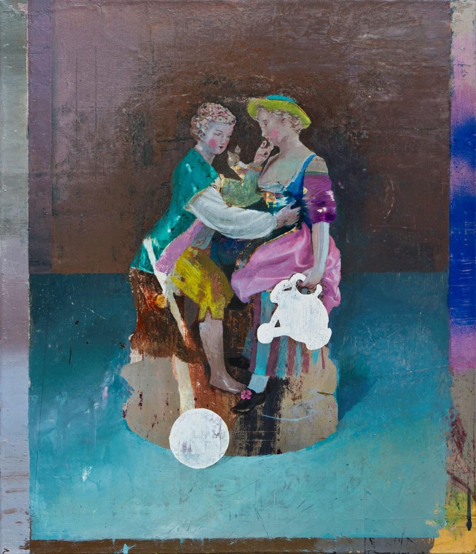 Cristiano Tassinari, Pastoral Scene, Oil and spray on canvas, 60x70cm, 2018