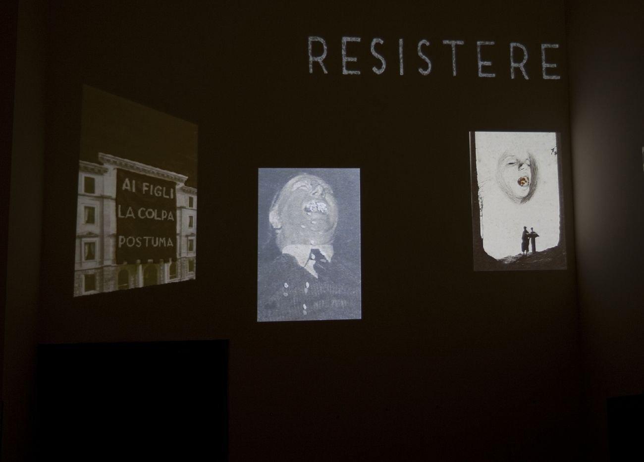 Daniele Franzella, Compendio della notte, 2018. Courtesy RizzutoGallery, Palermo. Exhibition view at Casa del Mutilato, Palermo 2018. Photo Anabasi
