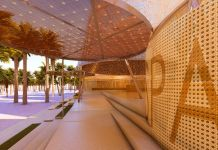 Entry ramp. Spanish Pavilion at the Expo Dubai 2020 by Amann Canovas Maruri. Courtesy the studio and Acción Cultural Española