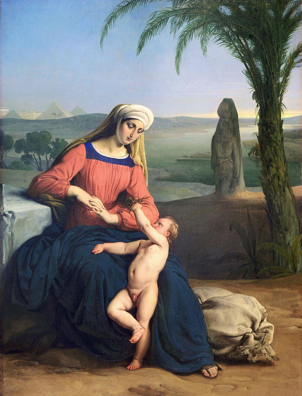 Francesco Hayez, Riposo durante la fuga in Egitto, 1831. Collezione privata