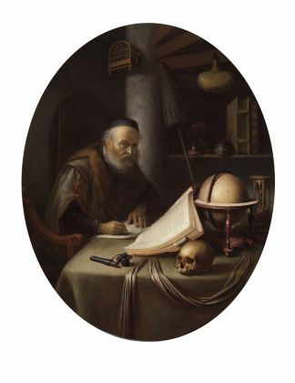 Gerrit Dou, Scholar Interrupted at His Writing, ca. 1635 © The Leiden Collection, New York
