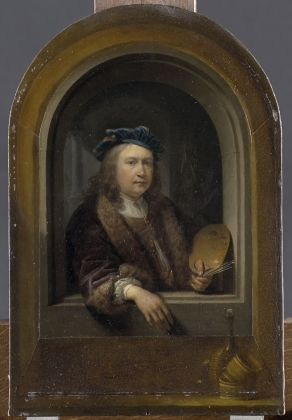 Gerrit Dou, Self-Portrait with Palette in a Niche, ca. 1660-65 © RMN-Grand Palais (musée du Louvre) Tony Querrec
