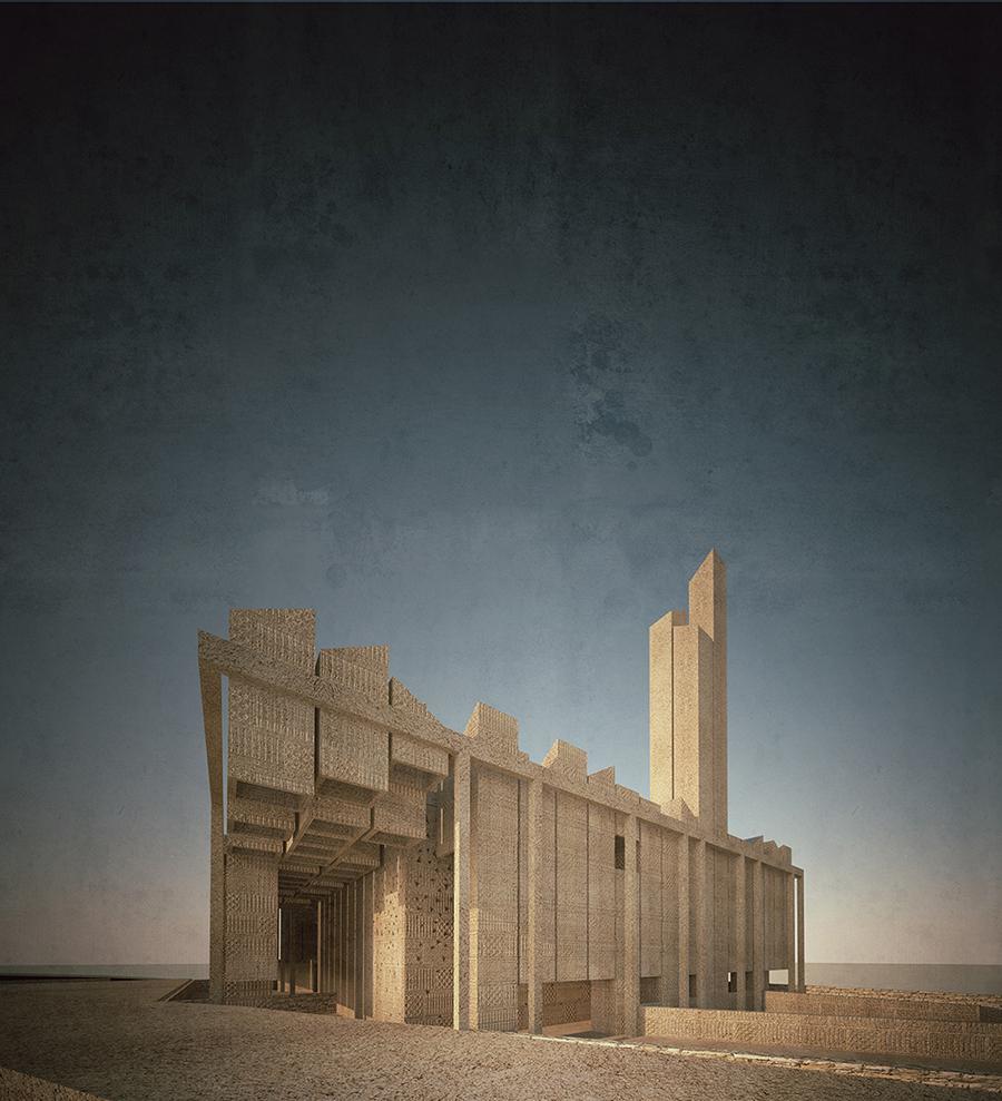 Gianluca Peluffo & Partners, Moschea per Monte Galala Sokhna, Egitto. Courtesy Gianluca Peluffo & Partners