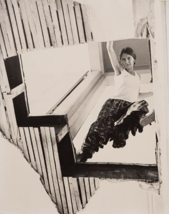 Gordon Matta-Clark, Carol Goodden in Bronx Floors, 1972. Courtesy Harold Berg