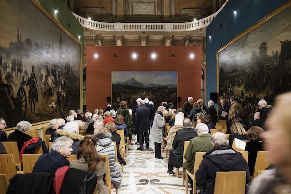 Museo Nazionale del Risorgimento di Torino, festa in onore di Ezio Gribaudo, ph. Andrea Guermani
