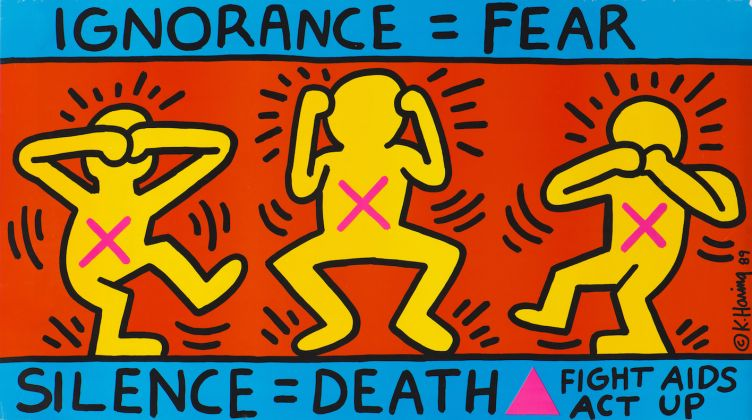 Keith Haring, 1958–1990, Ignorance = Fear, 1989, Poster 660 x 1141 mm. Collection Noirmontartproduction, Paris © Keith Haring Foundation/ Collection Noirmontartproduction, Paris