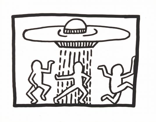 Keith Haring, 1958-1990, Untitled 1980, Ink on Bristol board 510 x 660 mm. Collection of the Keith Haring Foundation © Keith Haring Foundation