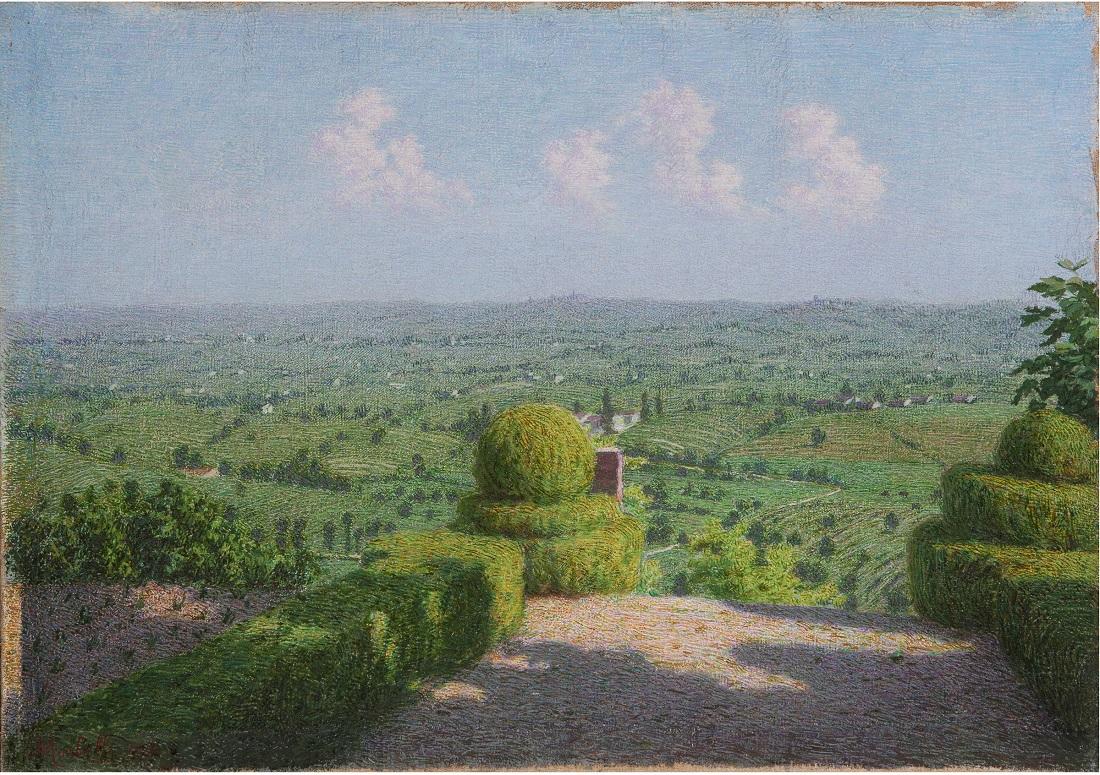 Angelo Morbelli, Colline del Monferrato, olio su tela 40x56,5 cm
