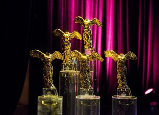 Photo showing the Golden Nica Awards at Ars Electronica Gala at Brucknerhaus, credit Tom Mesic, courtesy Ars Electronica