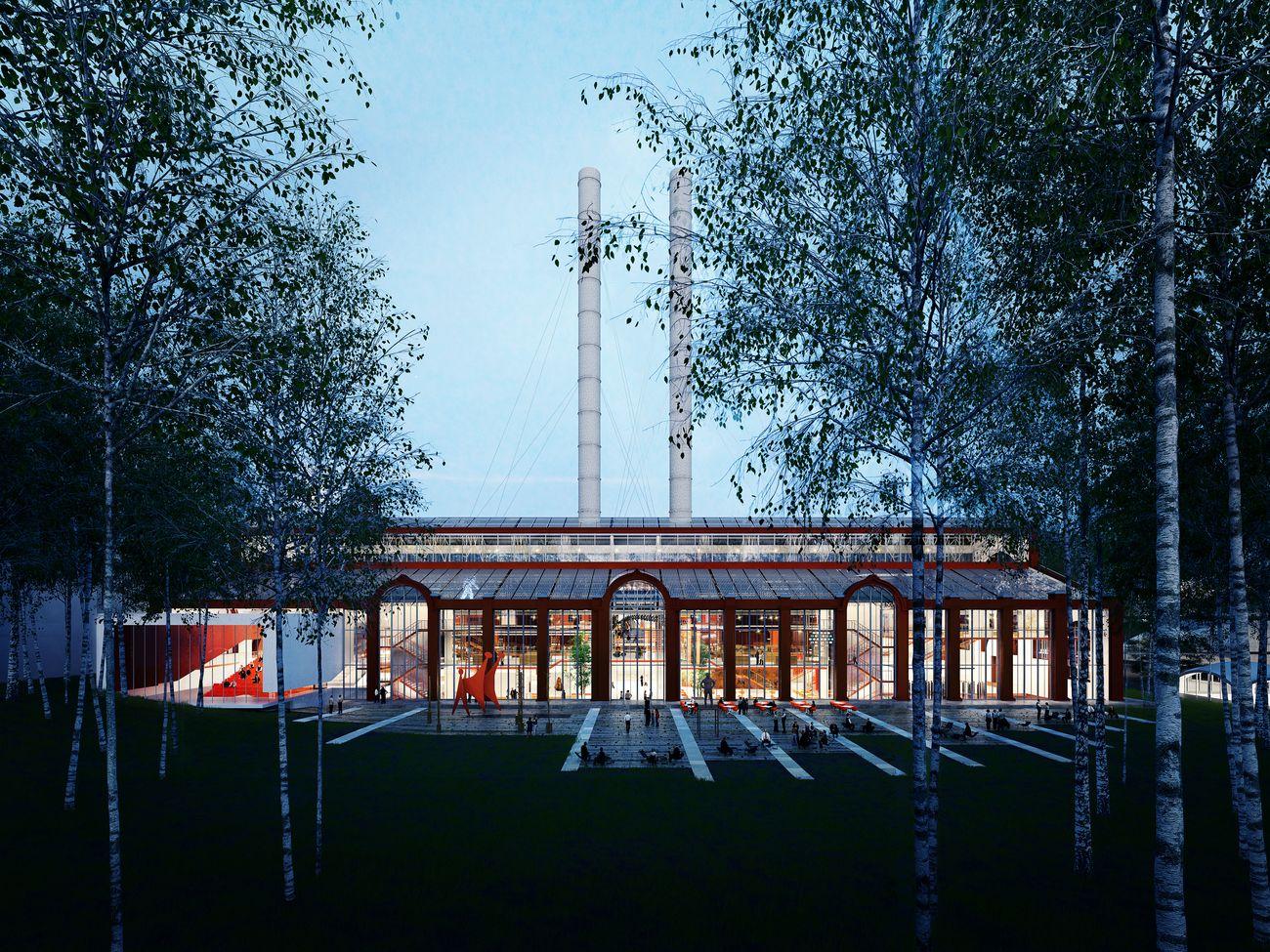 RPBW con APEX Project Bureau, GES 2 project, Mosca © RPBW, rendering by L'Autre Image