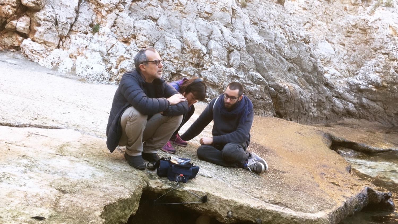 Sessione di lavoro presso le grotte delle Cipolliane con Massimo Carozzi, foto credits Lia Cecchin