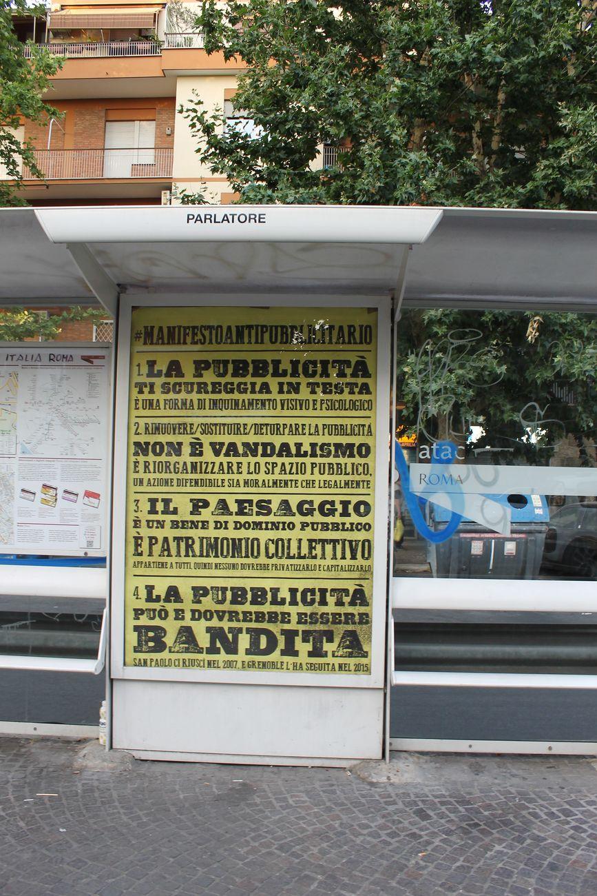 Special Patrol Group, Manifesto antipubblicitario, Roma, giugno 2017