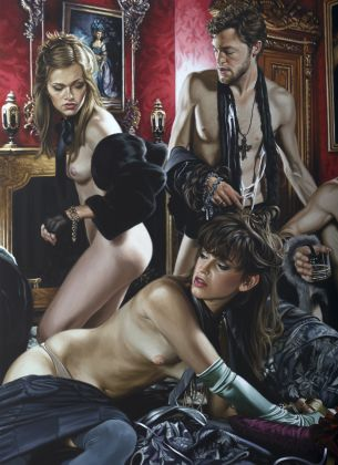 NewFaustianWorld - Terry Rodgers, Nostalgia for the Opposite, 2014, oil on linen, 183 x 132 cm