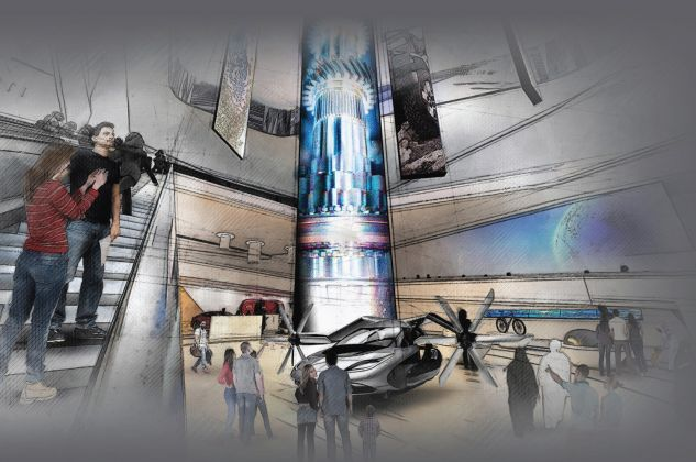 USA. What moves you. The spirit of mobility, Escalator, pavilion2020.org