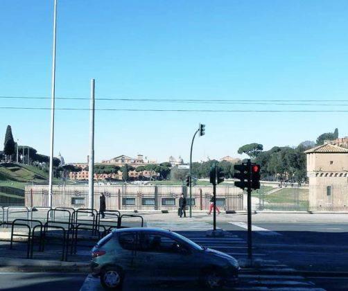 L'area del Circo Massimo fotografata nel 2019