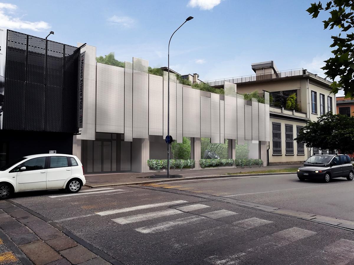 PLARTWO, facciata chiusa. Courtesy Studio Cepernich Architettura e Design