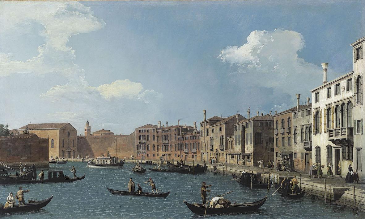 Antonio Canal detto Canaletto Il Canal Grande da Santa Chiara verso Santa Croce Olio su tela, 48,5 x 79 cm Musee Cognacq-Jay, Parigi