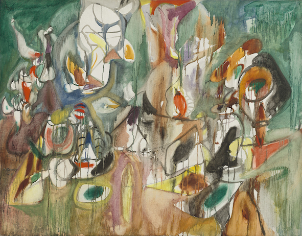 Arshile Gorky One Year the Milkweed, 1944 Olio su tela, 94,2 x 119,3 cm National Gallery of Art, Washington, D.C. Ailsa Mellon Bruce Fund © 2018 The Estate of Arshile Gorky / Artists Rights Society (ARS), New York