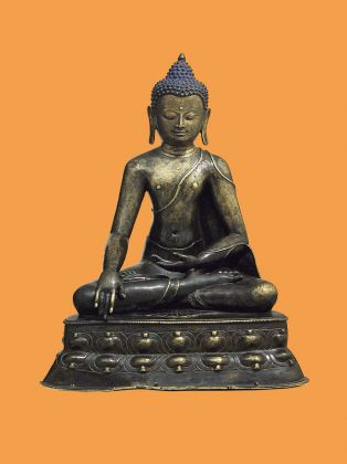 Buddha Shakyamuni. Western Tibet 12th/13th century, brass alloy, permanent loan, collection Berti Aschmann © Museum Rietberg