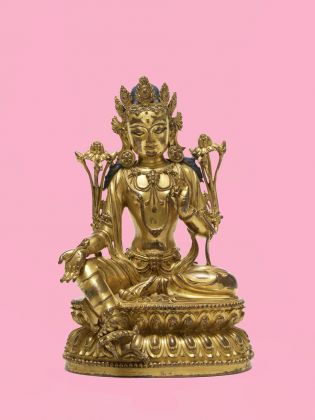 Green Tara. China, Ming dynasty, Yongle period (1403–1424), fire-gilded brass alloy, bequest Martha and Ursula Wirz, © Museum Rietberg