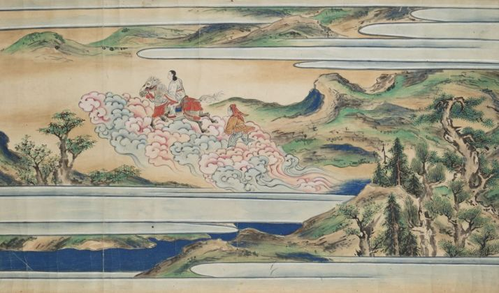 Nightly escape from the palace (detail). Japan, Edo period, 18th century, ink and colour on paper, © National Gallery Prague