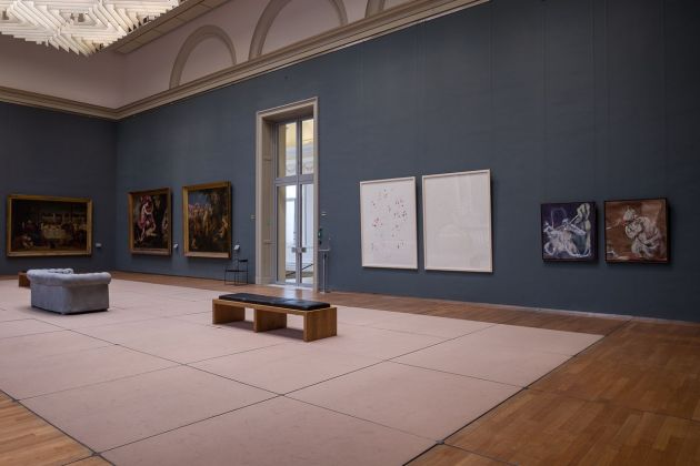 Alessandro Scarabello, Rendez Vous, 2018. Installation view at Royal Museum of Fine Arts, Bruxelles. Photo Elena Foresto