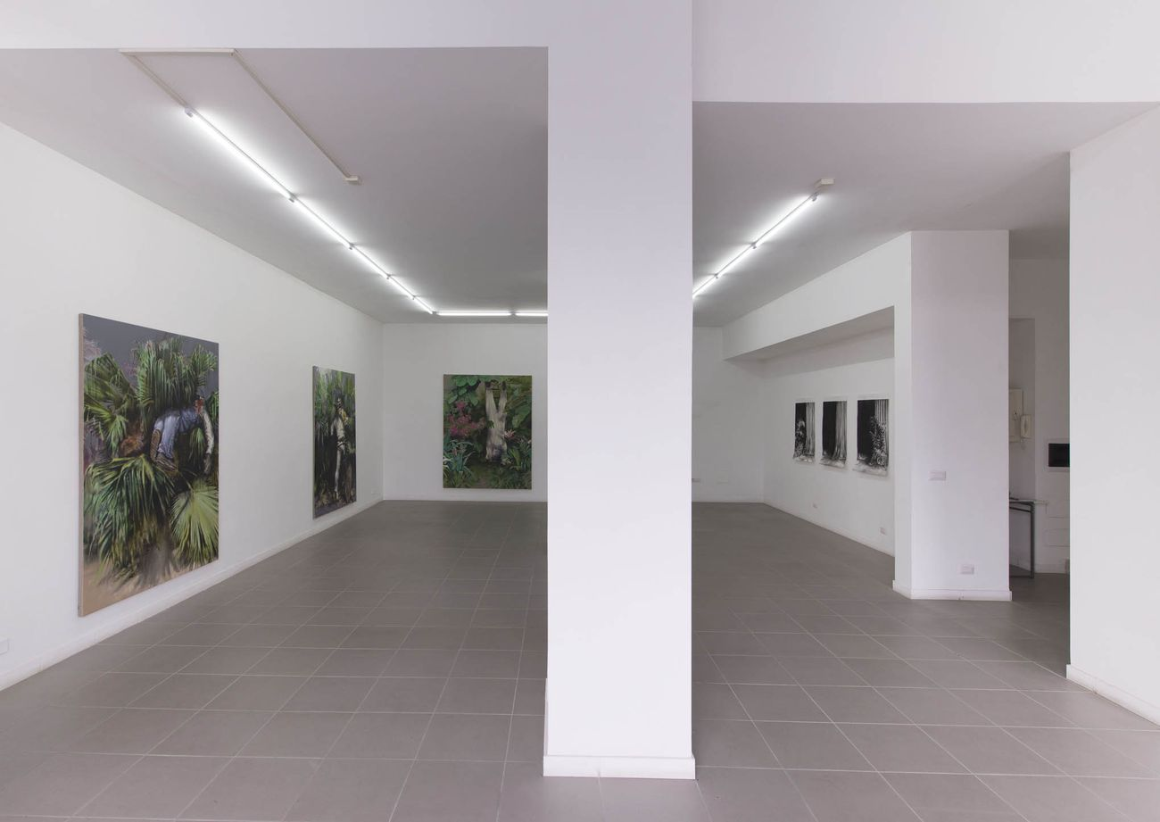 Alessandro Scarabello, The Garden of Phersu, 2016. Installation view at The Gallery Apart, Roma. Photo Giorgio Benni
