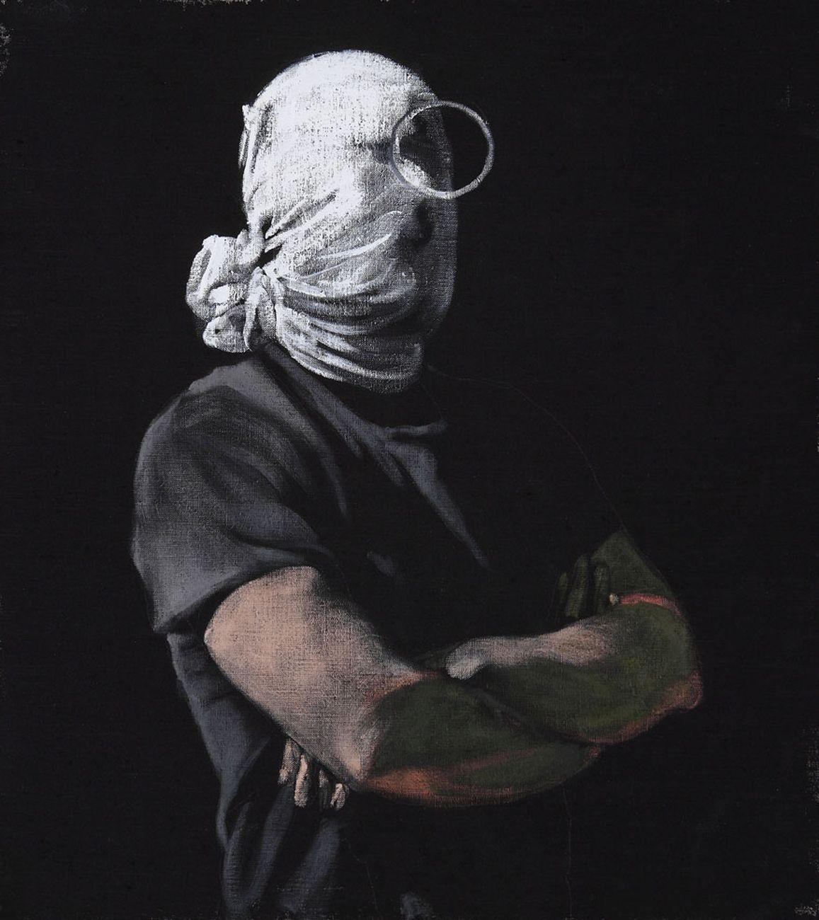 Alessandro Scarabello, Untitled, 2011, acrilico e olio su tela, cm 40x44. Courtesy The Gallery Apart, Roma. Collezione Manuela Pacella, Roma