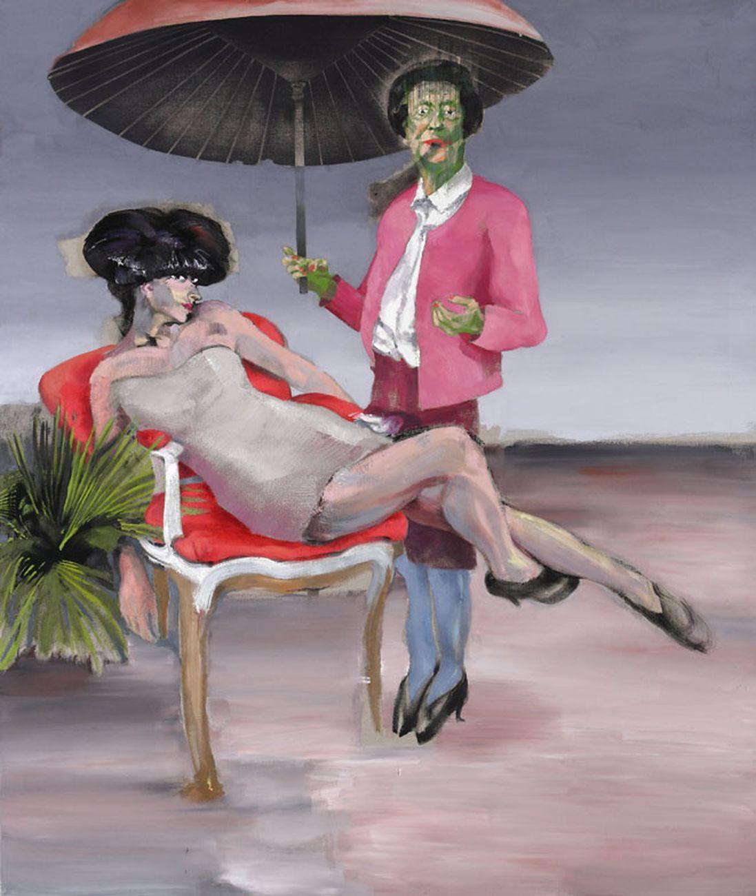 Alessandro Scarabello, Uppercrust #3, 2011, acrilico e olio su tela, cm 187x154. Courtesy The Gallery Apart, Roma