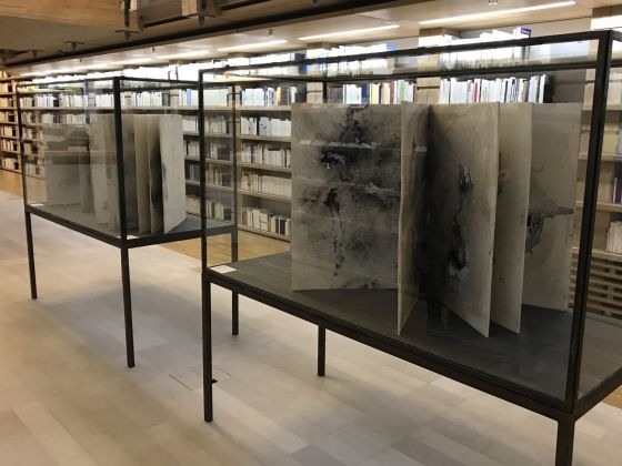 Anselm Kiefer. Livres et xylographies. Exhibition view at Fondation Jan Michalski, Montricher 2019. Photo © Agence du Lion d'Or, Perroy