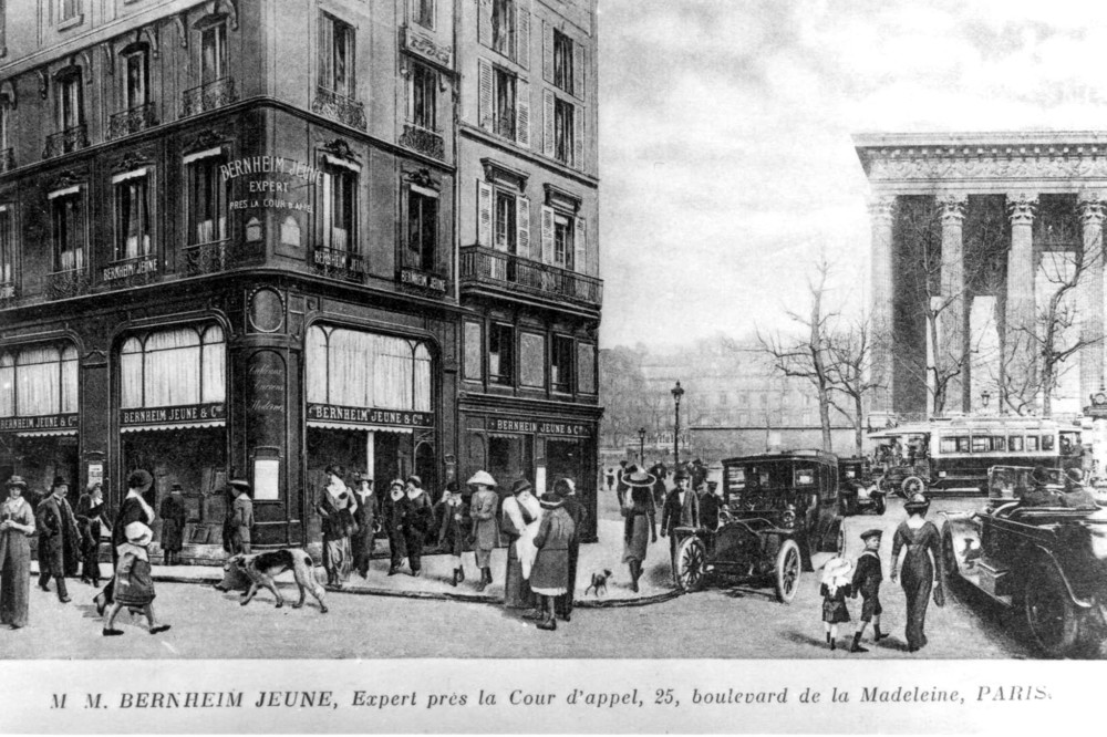 Galerie Bernheim-Jeune, Parigi 1910. Fonte Wikimedia Commons