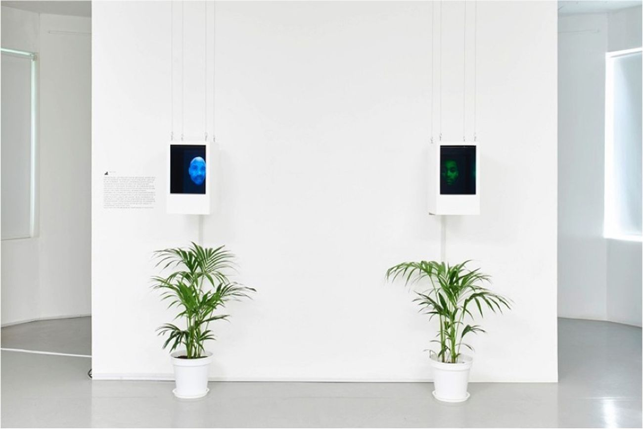 Bogosi Sekhukhuni, Consciousness Engine 2. Absentfatherbot, 2014. Two channel video installation. Courtesy the artist