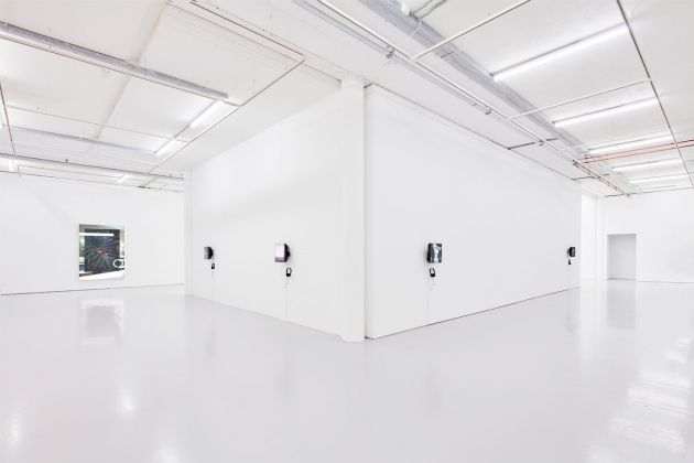 Christopher Kulendran Thomas. New Eelam. Bristol. In collaboration with Annika Kuhlmann. Installation view at Spike Island, Bristol 2019. Photo Stuart Whipps