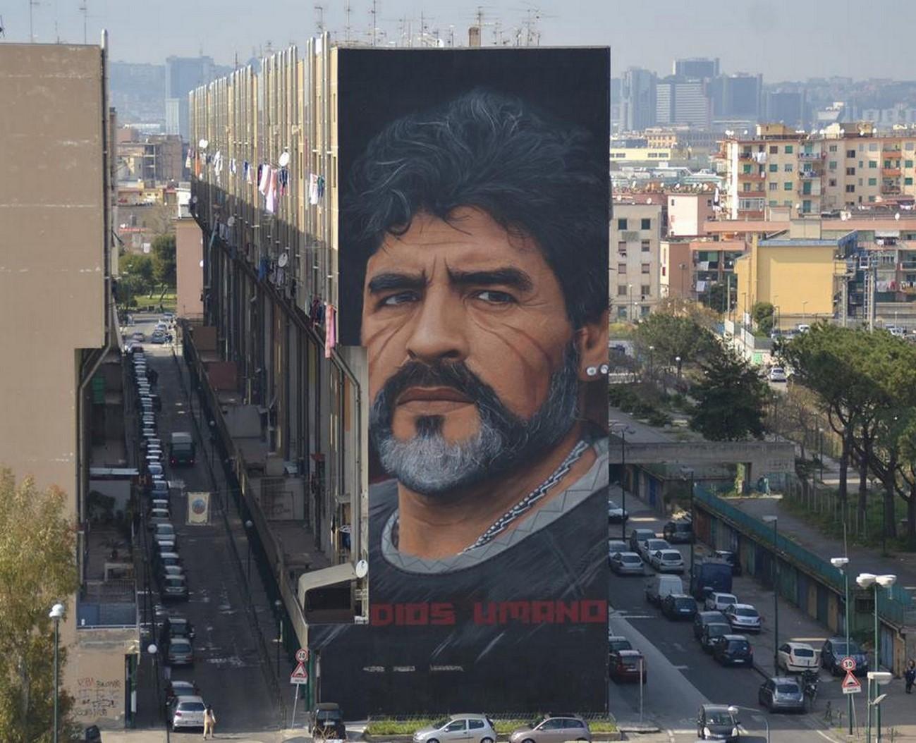Diego, il murale più grande di Napoli Est firmato da Jorit per INWARD