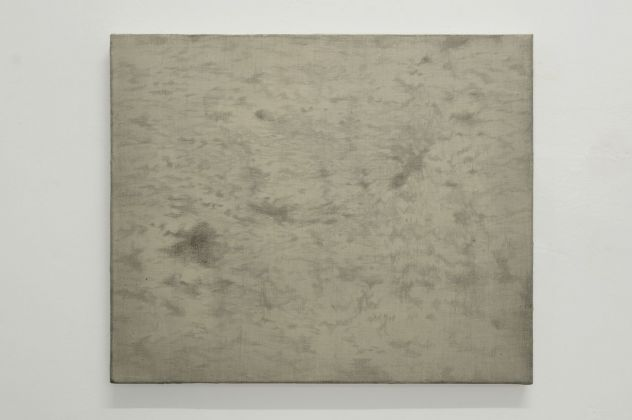 Giulio Saverio Rossi, Earthless map the clouds #1, 2018, punta d'argento su bianco d'osso, 55 x 65 cm