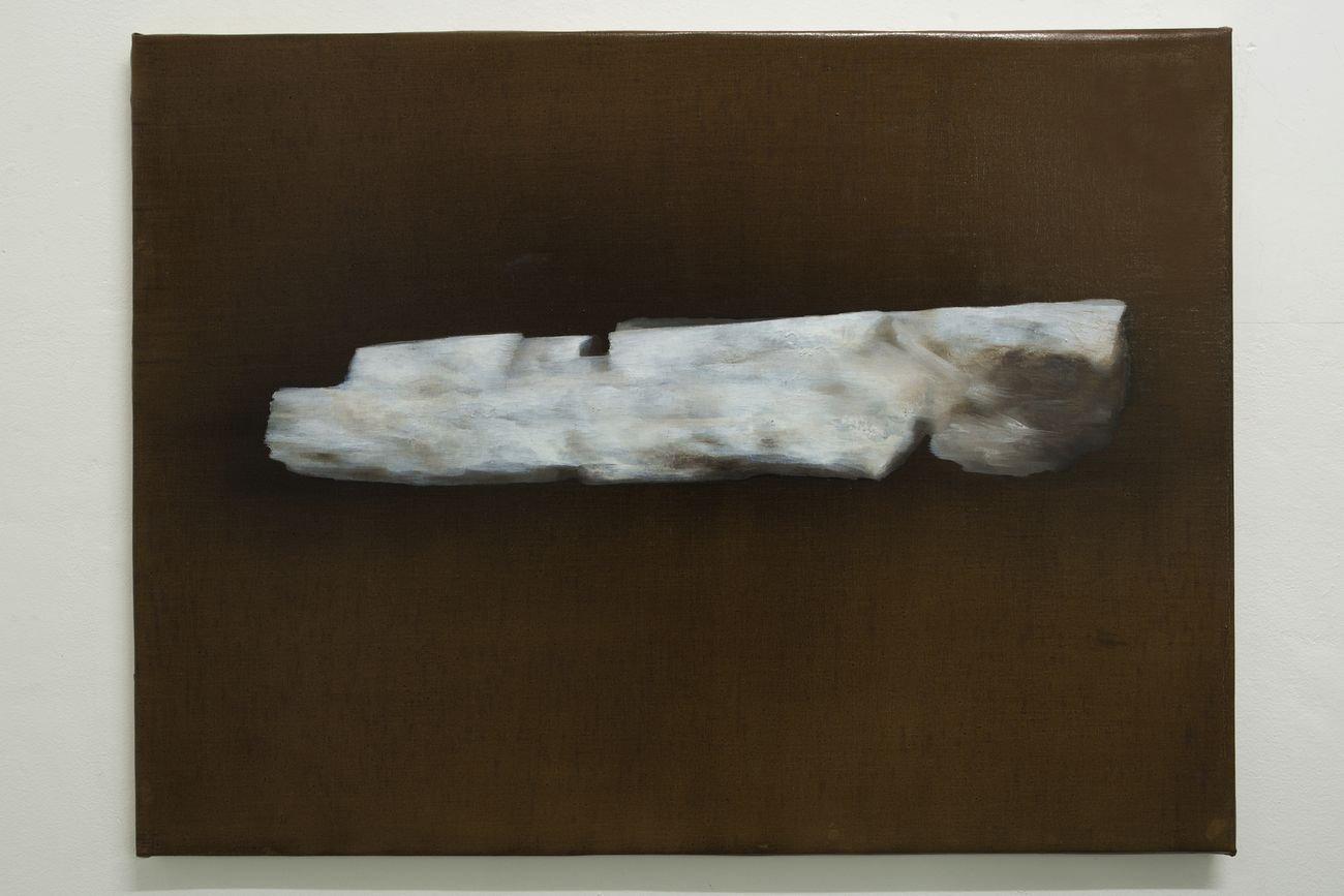Giulio Saverio Rossi, Gipsoteca selenite, 2018, olio su tela, 58 x 78 cm
