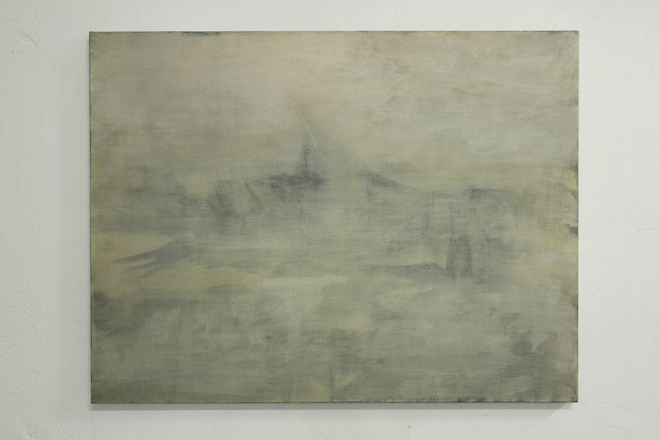 Giulio Saverio Rossi, Sub versione (Friedrich), 2018, tempera a colla e gesso di Bologna su lino, 96 x 127 cm