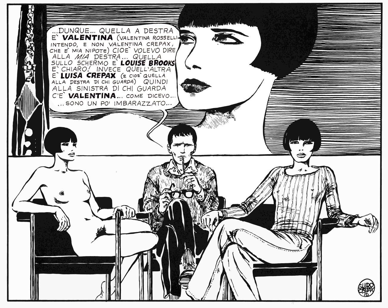 Guido Crepax, Guido, Luisa, Valentina e Louise, 1976, courtesy Archivio Crepax