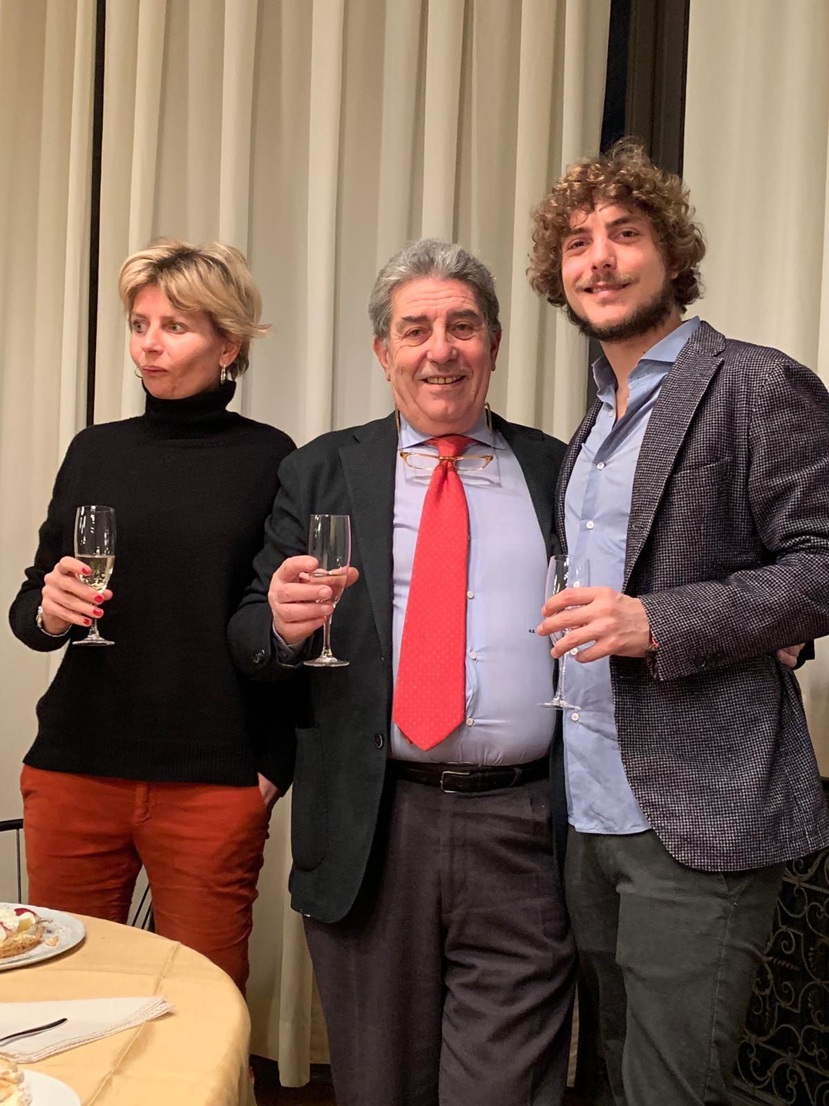 Attilio Rappa con i figli Elena e Vittorio