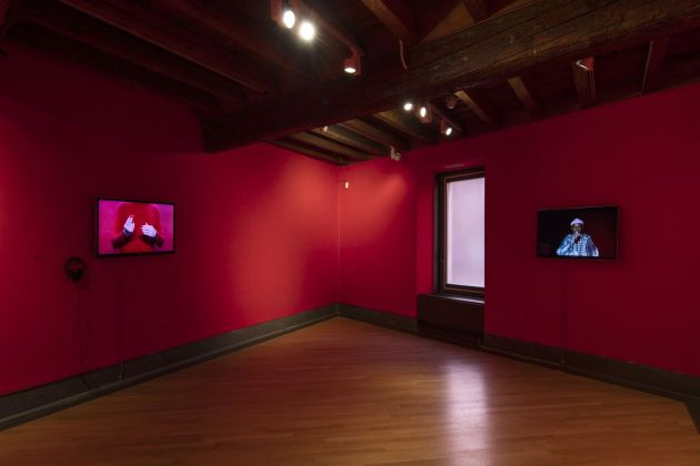 Jacopo Miliani per Artists' Film International #11. Installation view at GAMeC, Bergamo 2019. Photo Antonio Maniscalco. Courtesy GAMeC - Galleria d'Arte Moderna e Contemporanea di Bergamo