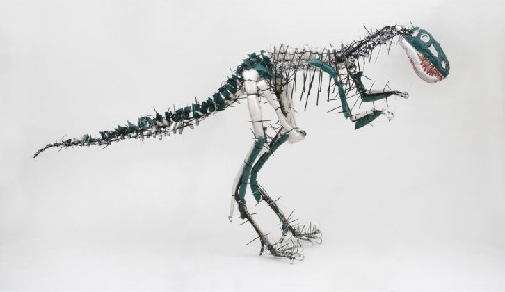 Julia Krause Harder, Nanotyrannus, 2013. Courtesy Atelier Goldstein. Photo © Uwe Dettmar. Courtesy Kunstforum Wien