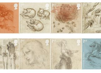 Leonardo full set stamps - Courtesy Royal Mail