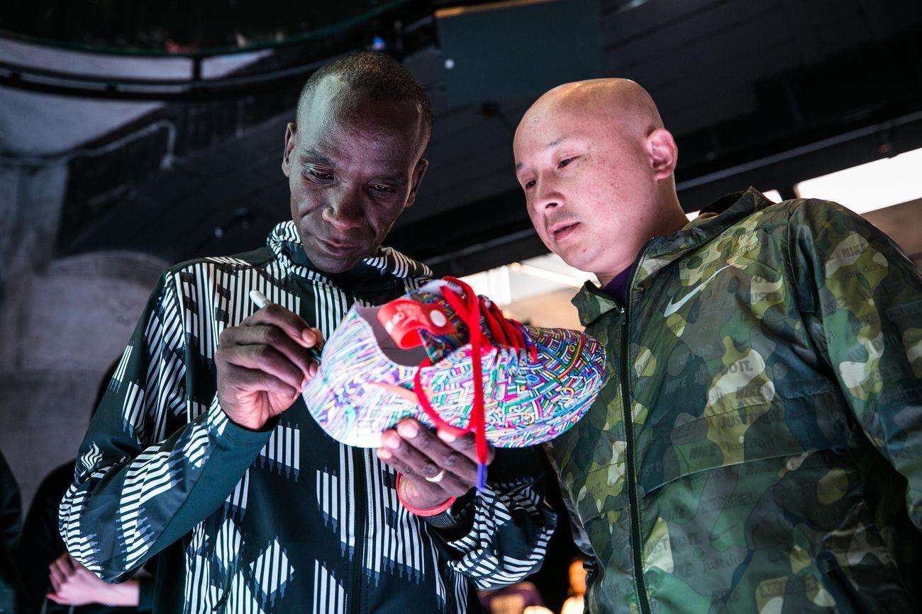 Lu Xinjian e Eliud Kipchoge per Nike
