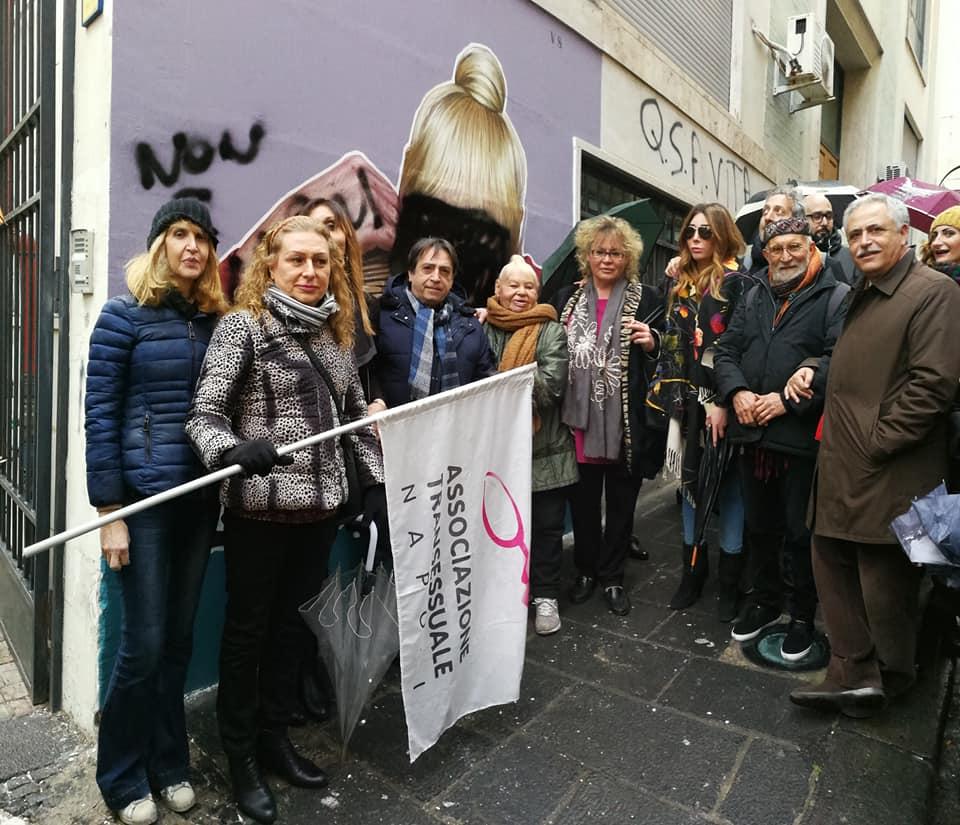 Manifestazione in difesa del muro di Valiante e di Tarantina. Napoli, 25 febbraio 2019. Ph. Facebook