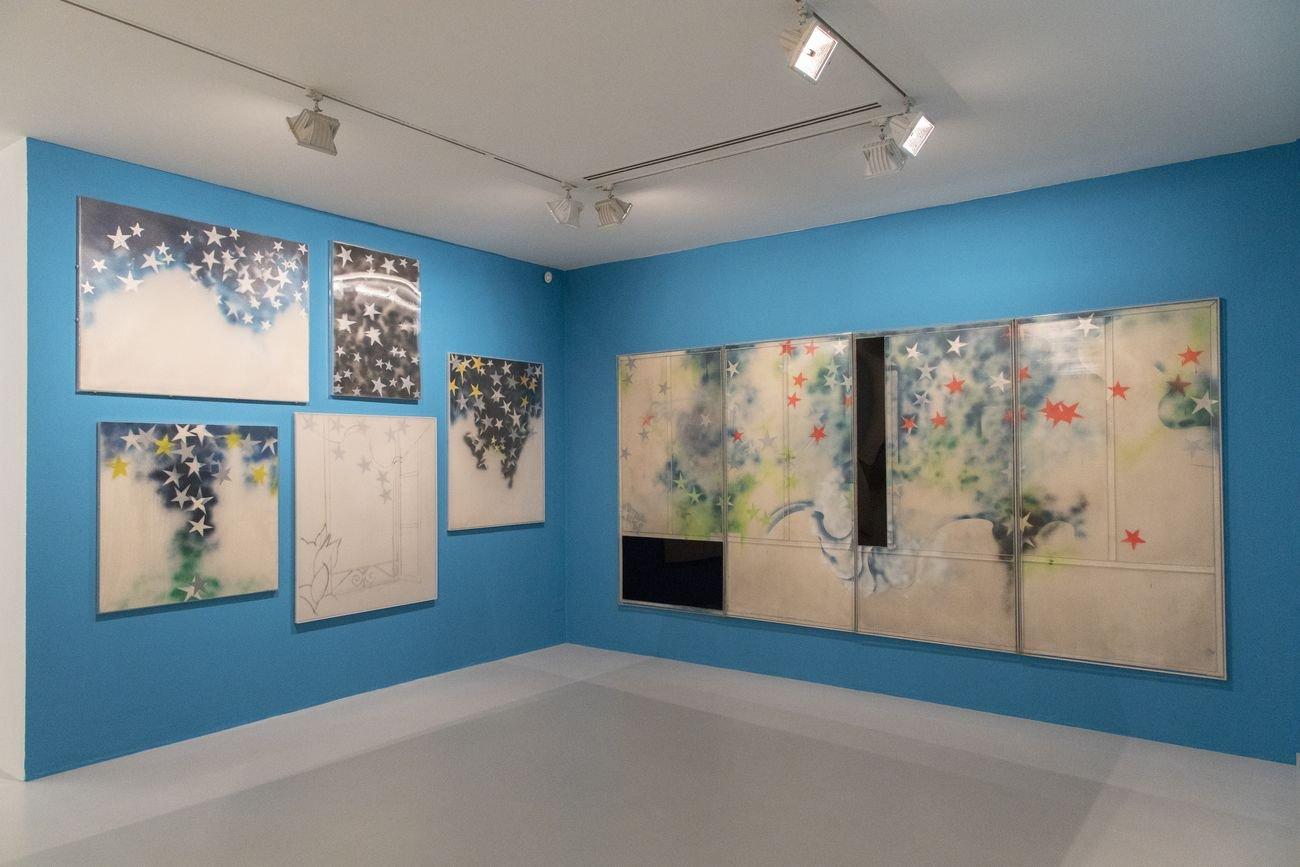 Omaggio a Mario Schifano. Al principio fu Vero amore. Installation view at Fondazione Marconi, Milano 2018. Photo Fabio Mantegna