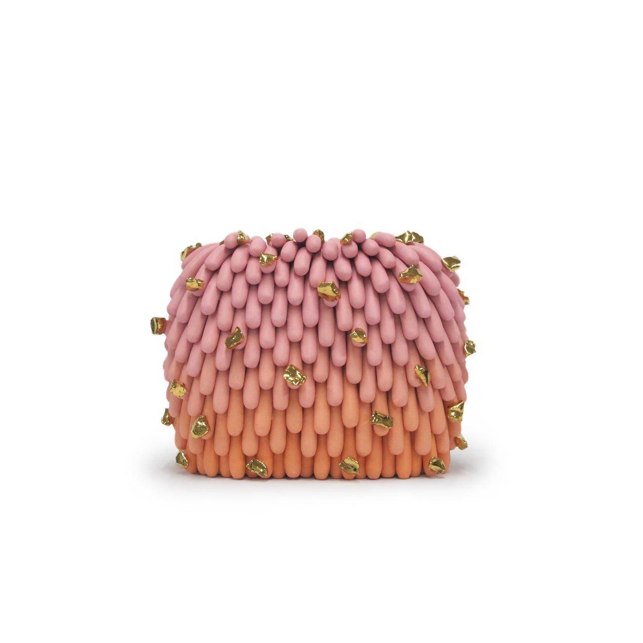 Open to Art 2019. Linda Lopez, Pink Orange Dust Furry with Gold Rocks