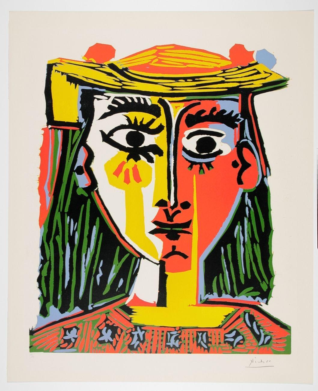 Pablo Picasso, Buste de Femme au Chapeau, 1962. Museum Boijmans Van Beuningen, Rotterdam. Photo Studio Buitenhof, Den Haag