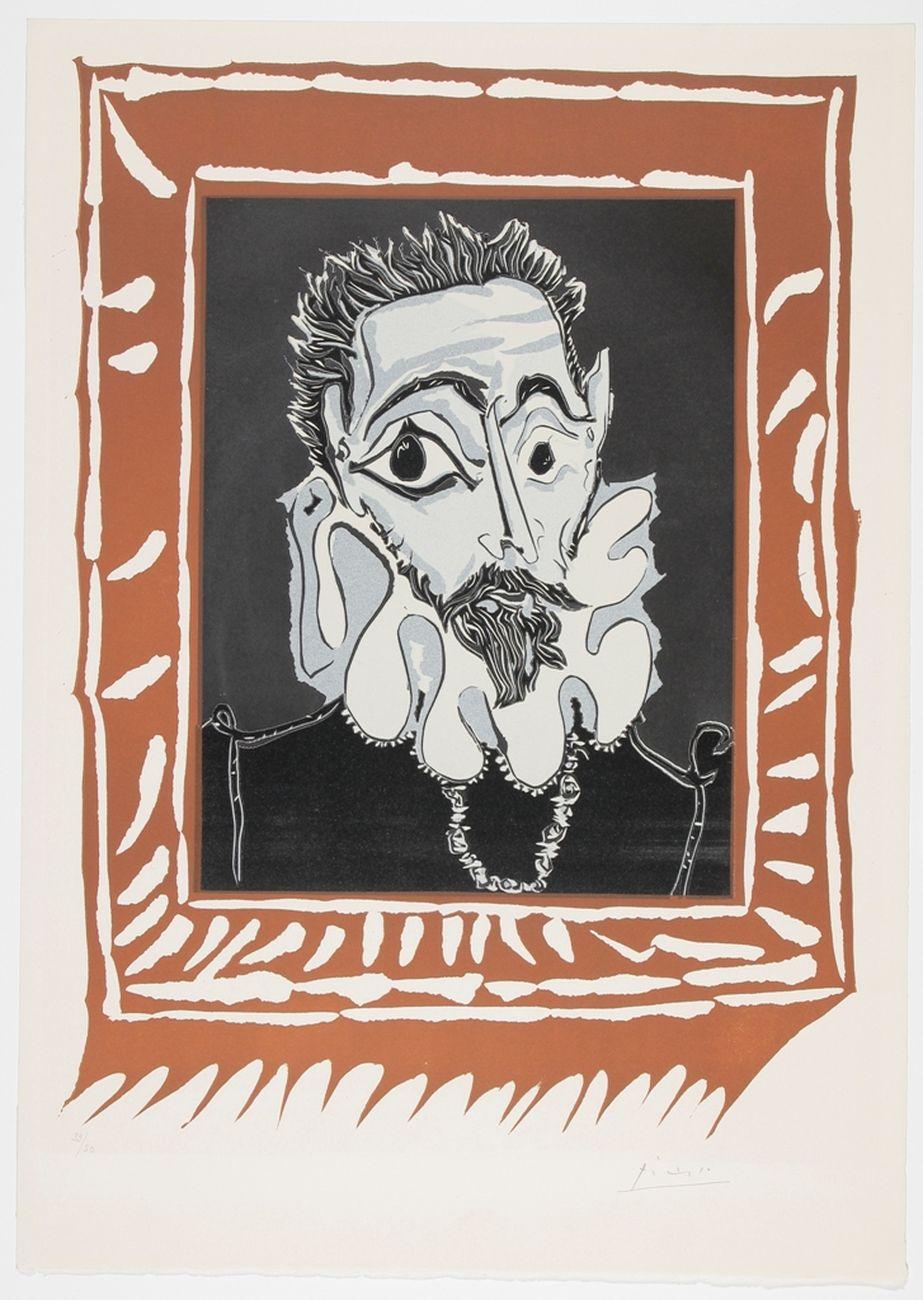 Pablo Picasso, Portrait d'homme à la fraise, 1962. Museum Boijmans Van Beuningen, Rotterdam. Photo Studio Buitenhof, Den Haag