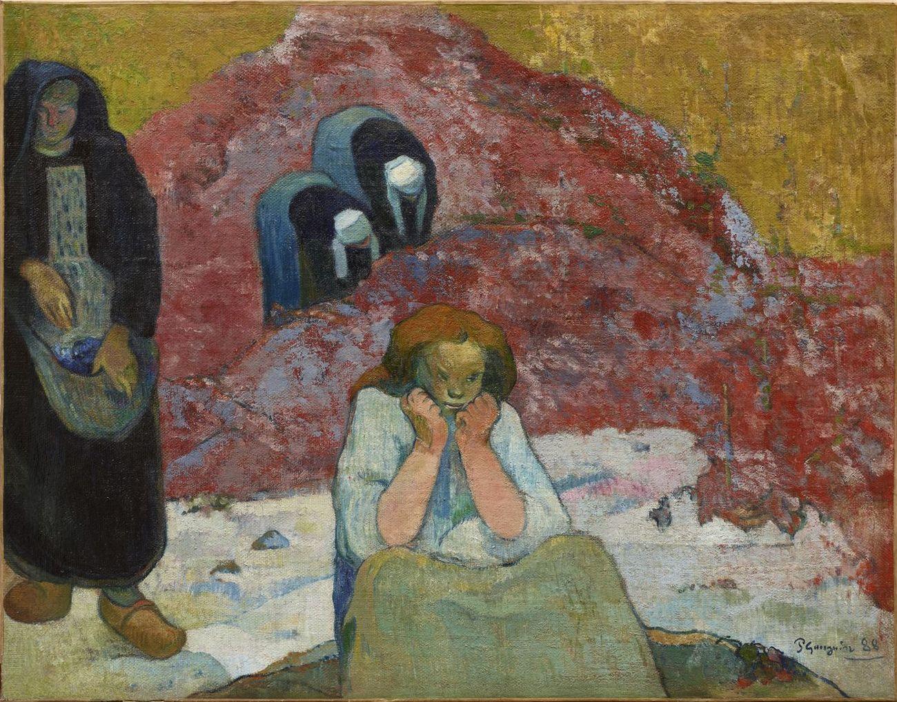 Paul Gauguin, Vendemmia, miserie umane, 1888